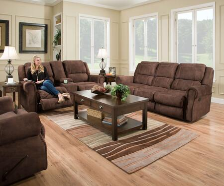 Osborn Collection 50868BR53SET 3 PC Living Room Set with Motion Sofa + Reclining Loveseat + Rocker Recliner in Chocolate