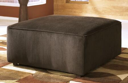 6840408 Vista Oversized Accent Ottoman with Ribbed Fabric Upholstery  Thick Seat Cushion and Welt Cord Details in 380420