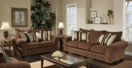 1837033950SL Clearlake Sofa + Loveseat with 16 Gauge Border Wire  Kendu Onyx Toss Pillows  Kiln Dried Hardwood Frames and Hi-Density Foam Core Cushions in