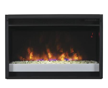 26EF031GPG-201 26 inch  SpectraFire Plus Contemporary Electric Fireplace Insert with Safer Plug  Digital Thermostat  Vent Free and Remote Control in