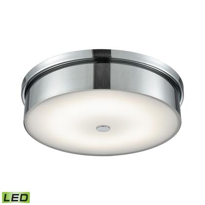 FML4950-10-15 Towne Round LED Flushmount In Chrome And Opal Glass -