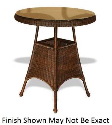 LEX-11T Sea Pines Bar Table With Powder Coated Aluminum Frames  Heavy 1/4 Clear Tempered Glass Table Tops in