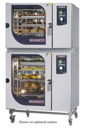 BCM62102E Double Stack Electric Boiler based Combination-Oven/Steamer with Dial and Digital controls  Reversible 9 speed fan  Up to 50 recipe programs with 10