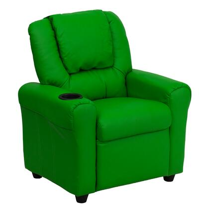 DG-ULT-KID-GRN-GG Contemporary Green Vinyl Kids Recliner with Cup Holder and 295342