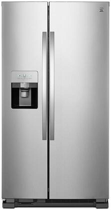51113 36 Side-by-Side Refrigerator with 24.55 cu. ft. Total Capacity  Frost-Free Operation  Water and Ice Dispenser and LED Lighting in Stainless