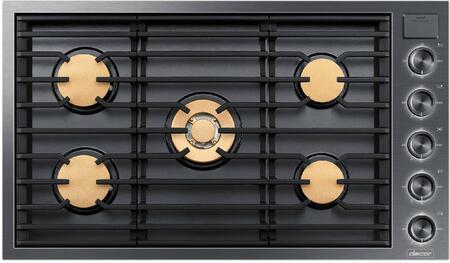 Dacor DTG36M955FM Modernist 36 inch iQ Kitchen Illumina Knobs Graphite Gas Cooktop