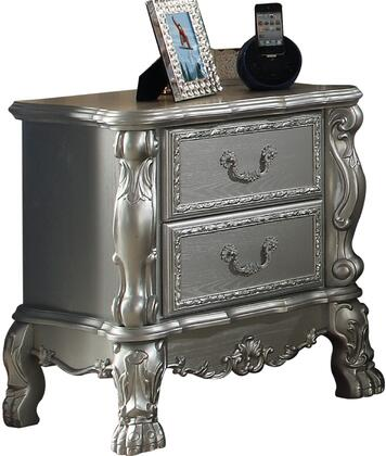 Dresden Collection 30683 23 inch  Nightstand with 2 Drawers  Claw Legs  Oversized Scrolled Apron  Poly Resin Ornamental Details and Solid Wood Construction in
