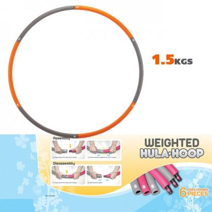 JAS-100-HULA-2.2 Weighted 2.4 lbs. Hu-La Hoop with Foam Covers  Compact for Storage  Extra Wide and Extra Weighted  in