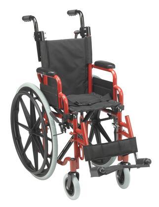 WB1200-2GFR Wallaby Pediatric Folding Wheelchair  12 inch   Fire Truck