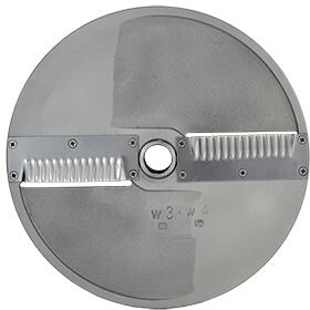 W4 Scallop Cut Disc Blade for Master Sky 3/4 HP and Master SS Food Processor with 5/32