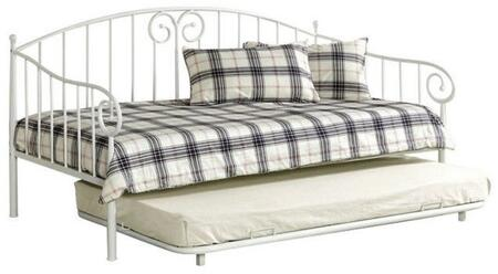 Hamden Collection CM1603WHT 2 PC Daybed Set with Twin Size Daybed + Trundle in White