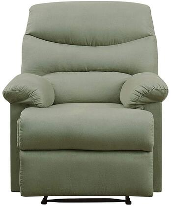 Arcadia Collection 00630 Recliner with Plush Padded Pillow Arms  Split Back Cushion  Metal Reclining Mechanism and Microfiber Upholstery in Sage