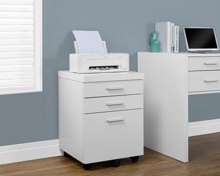 I 7048 Filing Cabinet - 3 Drawer / White On