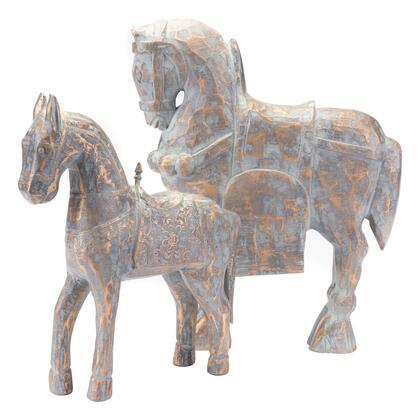 A10575 Solar Horse Small Antique