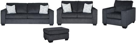 Altari 87213-38-LVCHOT 4-Piece Living Room Set with Sofa  Loveseat  Chair and Ottoman in