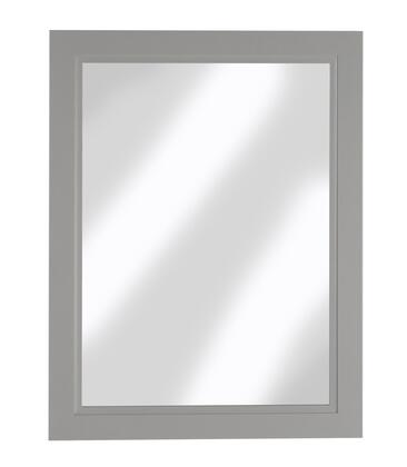 Urban Collection URBDB23M 23 inch  x 30 inch  Mirror with Bevel Shaker Style Frame and Hanging Wire Included in Daybreak