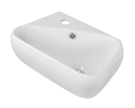 AI-1758 17.5-in. Width x 11-in. Diameter Above Counter Rectangle Vessel In White Color For Single Hole