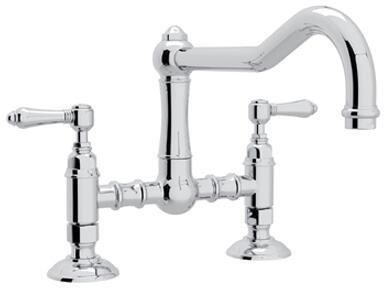 A1459LMAPC-2 Italian Country Kitchen Collection Deck Mounted Kitchen Bridge Faucet with 9