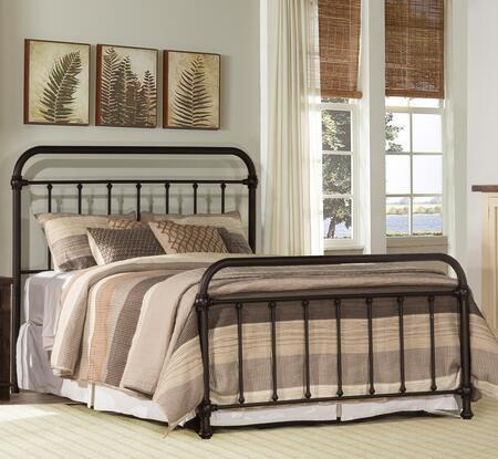Kirkland Collection 1863BFR Full Size Bed with Headboard  Footboard  Rails  Open-Frame Panel Design and Sturdy Metal Construction in Dark