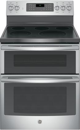 GE 6.6 Cu. Ft. Self-Cleaning Freestanding Double Oven Electric Convection Range Stainless Steel JB860SJSS