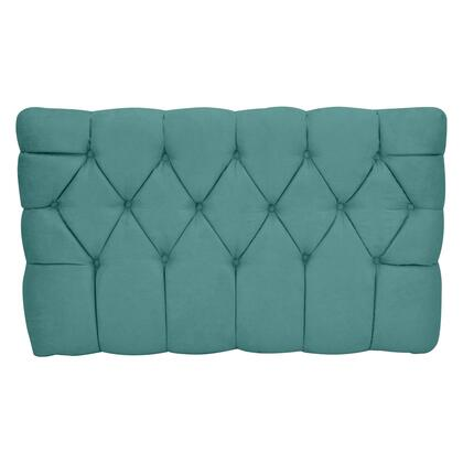 inch Meridia 11201TPS Collection inch  Tufted Upholstered Twin Headboard with Metal Legs and Wood Frame in Tide Pool