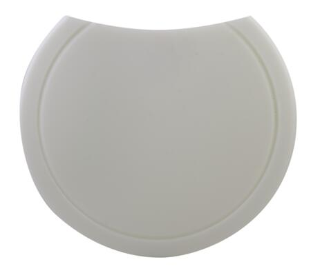 AB30PCB Round Cutting Board with Polyethylene  Cut-Off Corner  Sturdy Design and Grooved Channels in