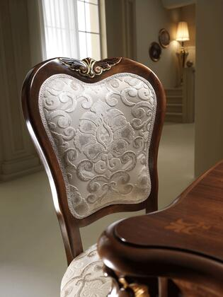 """DONATELLOSIDECHAIR_19""""_Side_Chair_with_Cabriole_Legs__Carved_Detailing_and_Fabric_Upholstery_in"""
