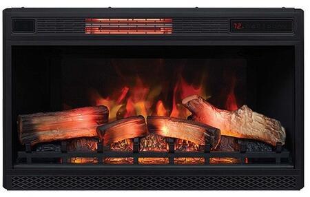 32II042FGL 32 inch  3D Infrared Quartz Electric Fireplace Insert with Safer Plug  Safer Sensor  5200 BTU and Traditional Log Set and Ember Bed