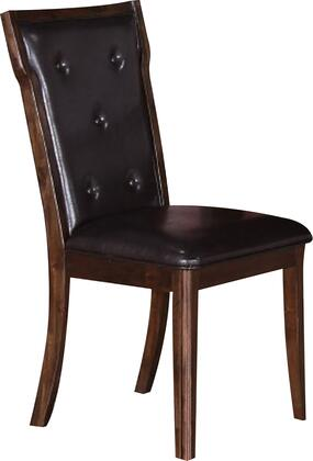Pam PAMCHR Dining Chair with Front and Rear Upholstery  Button Tufted Details and Tapered