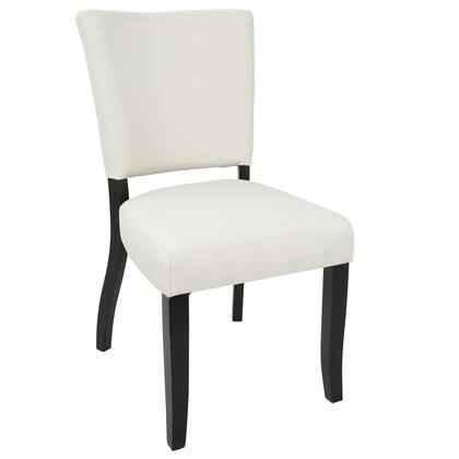 DC-VDA E+CR2 Vida Contemporary Dining Chair with Nailhead Trim in Cream - Set of
