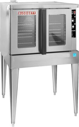 Zephaire-100-G-ES SGL Zephaire Series Energy Star Standard Depth Gas Convection Oven with Rigid Insulation  Porcelain Liner  Dependent and Heavy Duty Doors: