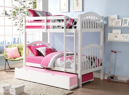 Heartland 02354BT 2 PC Bedroom Set with Twin Bunk Bed + Trundle in White