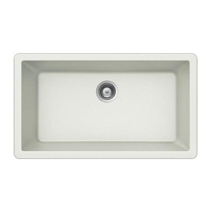V-100U CLOUD Quartztone Series Granite Undermount Large Single Bowl Kitchen Sink