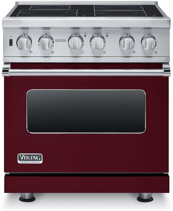 """Professional 5 Series VISC5304BBU 30"""" Electric Induction Range with MagneQuick Induction Elements Vari-Speed Dual Flow Convection Gourmet-Glo Infrared"""