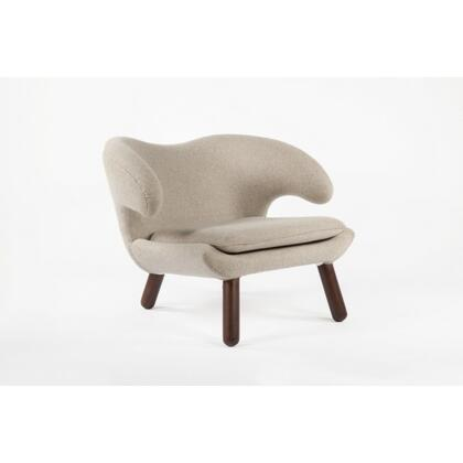 Pelican FB9019WHEAT Chair with Tapered Legs  Piped Stitching and Fabric Upholstery in