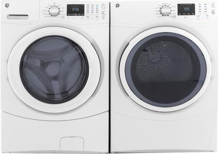 Front Load Speed Wash GFW430SSMWW 27 Washer with GFD43GSSMWW 27 Gas Dryer Laundry Pair in