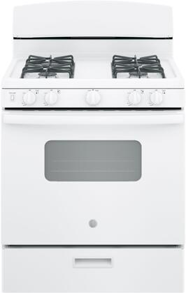 GE JGBS10DEMWW 4.8 Cu. Ft. White 4 Burner Gas Range