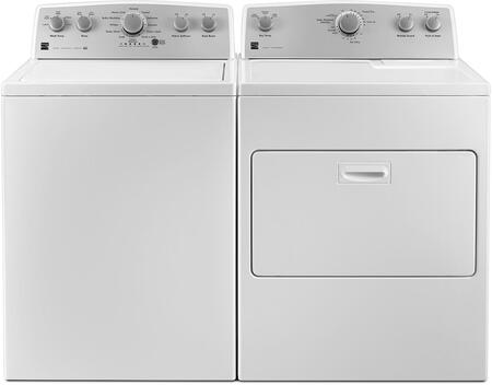 White Top Load Laundry Pair with 26-25132 28 Washer and 26-65132 29 Electric