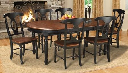 BRIOB6310 British Isles 76 Oval Dining Table with