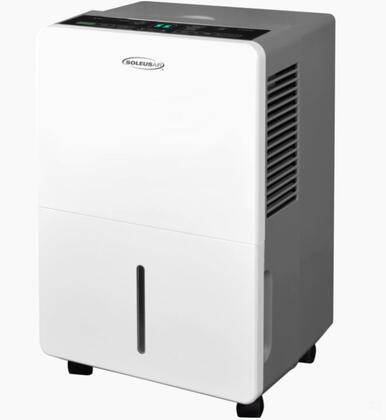 DS145E101 45 Pint Dehumidifier with Full Bucket Auto Shutoff  Programmable Timer  MyHome Mode  Automatic Defrost  and Low Temperature Operation  in