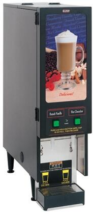 SET00.0200 FMD-2 Black Fresh Mix Dispenser With 2 Hoppers  Adjustable Legs  Drip Tray  Variable Speed Motors  in