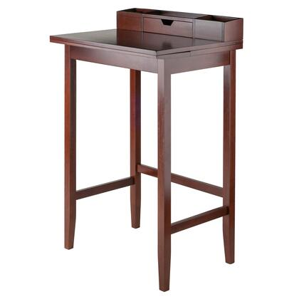 Archie Collection 94727 28 inch  High Desk with Slide Out Extension  Tapered Legs and Side Cross Bars in