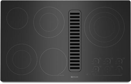 JED4536WB 36 inch  Electric Radiant Downdraft Cooktop with Electronic Touch Control  5 Radiant Elements  7 Inch Keep Warm Function  and Hot Surface Indicator Light