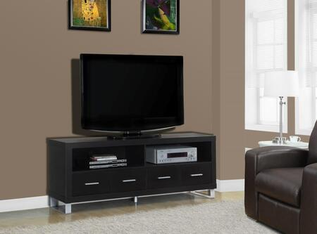 """I 2516 TV Stand - 60""""""""L / Cappuccino with 4"""" 501981"""