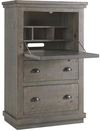 Willow A600-71 Armoire Desk with Solid Pine Construction  Simple Pulls and Two Drawers in Distressed Dark