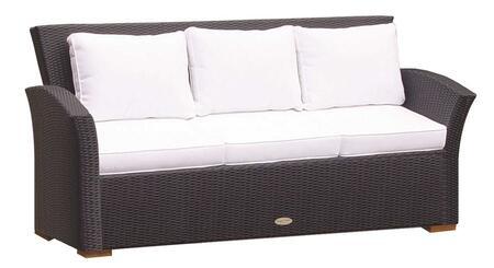 CHA3B 72 inch  Charleston Sofa in Black with White