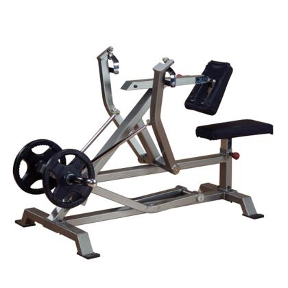 ProClub Line LVSR Leverage Seated Row Machine with 11-Gauge Steel Construction and Sealed Bearing Pivot Points in Silver and