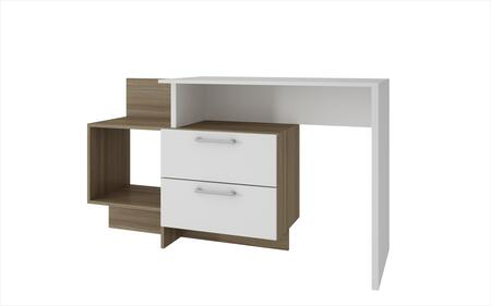 "Teramo Collection 78AMC22 37"" Home Desk with 2 Drawers and 1 Large Cubby in White and"