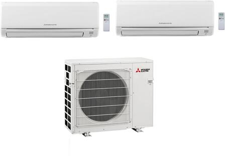 Dual Zone Mini Split Air Conditioner System with 30000 BTU Cooling Capacity  One (15K) Indoor Units  and One Outdoor 864952