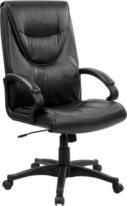 BT-238-BK-GG High Back Black Leather Executive Swivel Office